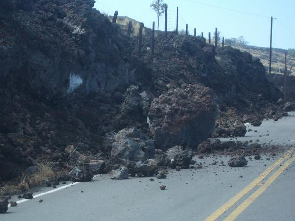 Rockslide on Saddle Road, Big Island