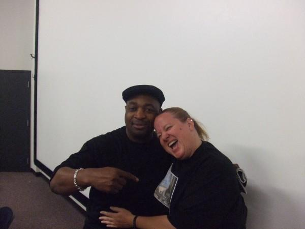 Me and Chuck D.  My hero...