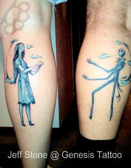 jack and sally tattoos. jack and sally tattoos.